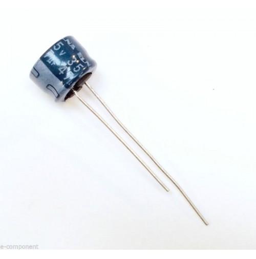 Condensatore Elettrolitico 47uF 35V 85°C Radiale 8x6mm ELNA (2 pezzi)