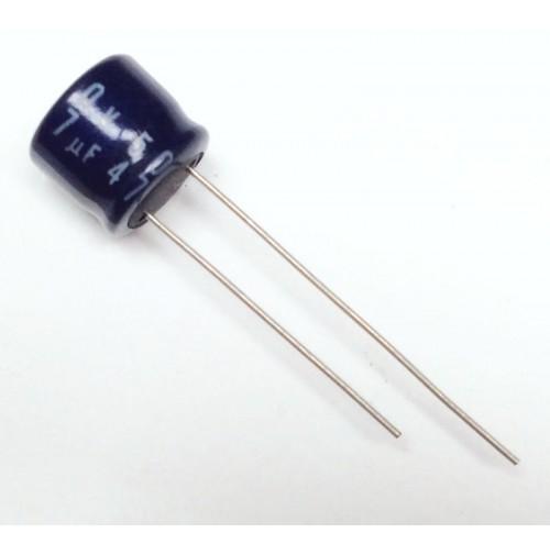 Condensatore Elettrolitico 47uF 50V 85°C Radiale 8x8mm - (2 pezzi)