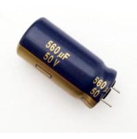 Condensatore Elettrolitico 560uF 50V 105°C Radiale Ø13x26mm M