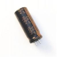 Condensatore Elettrolitico 56uF 100V 105°C Radiale 8x21mm AV