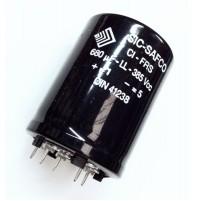 Condensatore Elettrolitico Corazzato 680uF 385V +85°C SIC-SAFCO