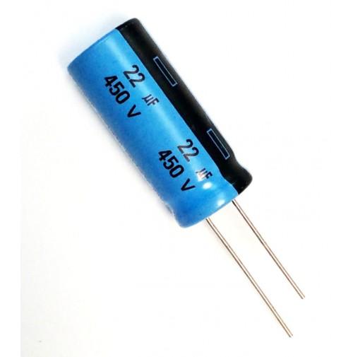 Condensatore Elettrolitico Radiale 22uF 450V 85°C Radiale Arcotronics