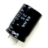 Condensatore Elettrolitico Radiale 4700uF 25V -40/+105°C Dim: Ø18x26mm ELNA