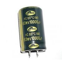 Condensatore Elettrolitico SNAP IN 10000uF 63V -40/+85°C 30x50mm SAMWHA