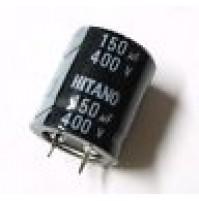Condensatore Elettrolitico SNAP IN 150uF 400V 85°C 31x26mm HITANO
