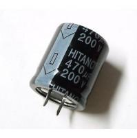 Condensatore Elettrolitico SNAP IN 470uF 200V 85°C HITANO