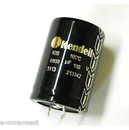Condensatore Elettrolitico SNAP IN 6800uF 100V 105°C 35x50 KENDEIL Made in Italy