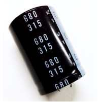 Condensatore Elettrolitico SNAP-IN 680uF 315V 105°C Ø35x50mm Nichicon