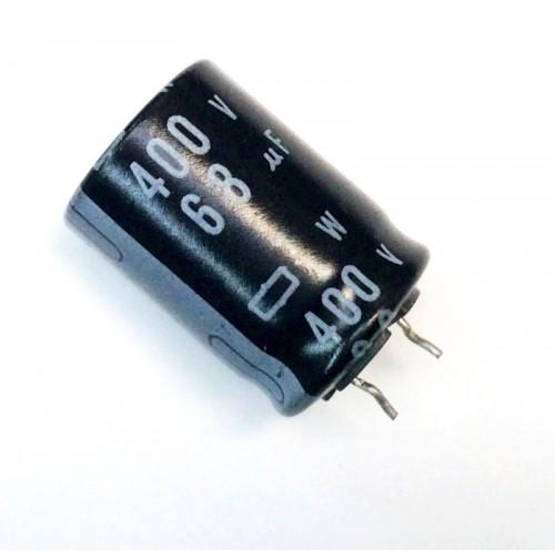 Condensatore Elettrolitico SNAP IN 68uF 400V -25/+85°C 19x26mm
