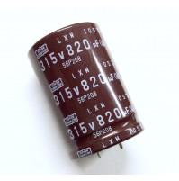 Condensatore Elettrolitico SNAP-IN 820uF 315V 105°C Ø35x50mm Nippon chemi-con