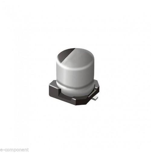 Condensatore Elettrolitico in SMD 10uF 35V dimensioni: 6.3x7.7mm (2 Pezzi)