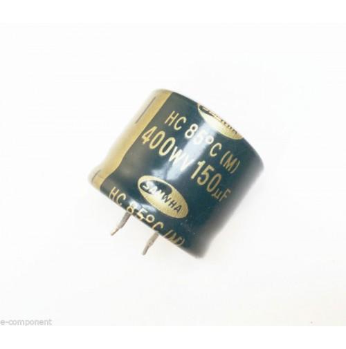 Condensatore Elettrolitico snap-in 150uF 400V 85°C Radiale 30x25mm SAMWHA