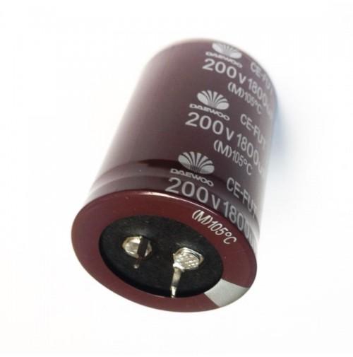 Condensatore Elettrolitico snap in 1800uF 200V 105°C (M) Radiale 36x53mm DAEWOO