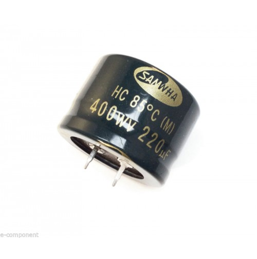 Condensatore Elettrolitico snap-in 220uF 400V 85°C Radiale 36x26mm SAMWHA