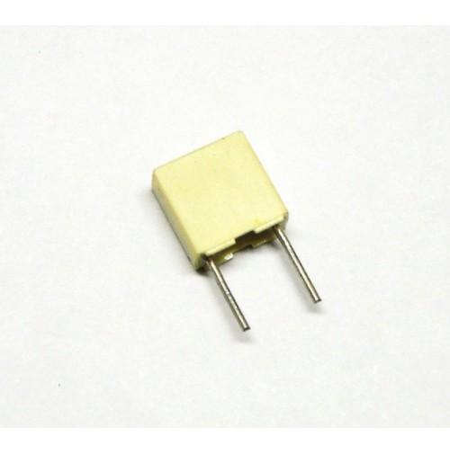 Condensatore Poliestere 100nF (0,1uF) 63V 10% 2,5X6,5X7,2mm Passo 5mm 10 pezzi
