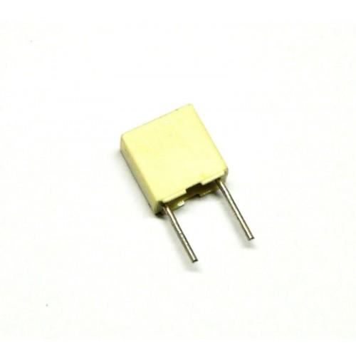 Condensatore Poliestere 100nF (0,1uF) 63V J 5% 2,5X6,5X7,2mm Passo 5mm 5 pezzi