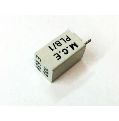 Condensatore Poliestere 100pF 63V F K6 6x6x11mm Passo 7.5mm MCE