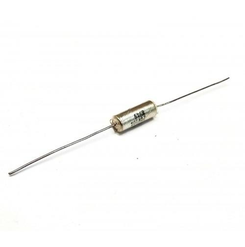 Condensatore al Tantalio 15uF 20V assiale Dim. Ø5x13mm