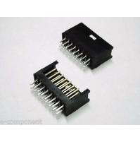 Connetore AMP / TYCO doppia fila dorato 8x2 poli diritto mod.280385-2