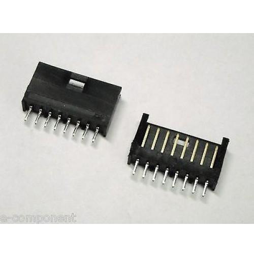 Connetore AMP / TYCO singola fila dorato 8 poli diritto mod.280373-2