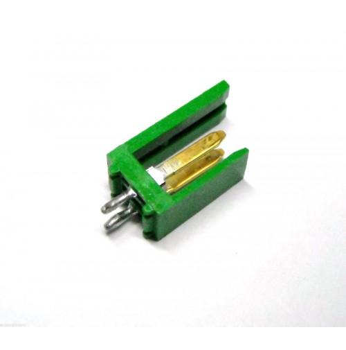 Connettore 2 poli AMP MODU I  280609-2 dorato da Circuito Stampato (2 Pezzi)