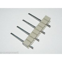 Connettore 4 poli da circuito stampato passo 7,5mm - 4 pezzi
