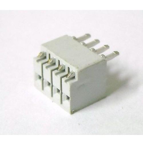 Connettore Femmina diritto 4 pins passo 2.54mm da C.S. marca AMP (5 Pezzi)