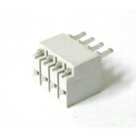 Connettore Femmina diritto 4 pins passo 2.54mm da Circuito Stampato (4 Pezzi)