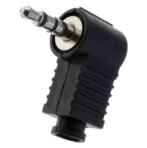 Connettore Jack 3.5mm Stereo angolare 90° a saldare colore Nero