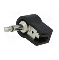 Connettore Jack 3.5mm mono angolare 90° colore Nero LUMBERG