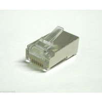 Connettore RJ45 Spina 8 pin a crimpare schermato