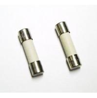 FUSIBILE CERAMICO RAPIDO TIPO F 6,3A 250V 5x20mm (confezione di 2 fusibili)