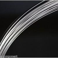 Filo di Rame Argentato per elettronica 0,10mm (1 Metro)