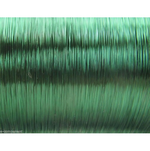 Filo di Rame Smaltato Verde Saldabile per elettronica 0,25mm (1 Metro)