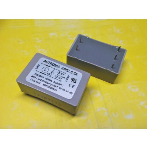 Filtro di rete antidisturbo da circuito stampato ACTRONIC mod. AR02.6.5A