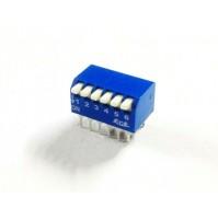 Interruttore dip switch ECE, ON/OFF 0.05A / 30VDC 6 vie 6+6 terminali stagnati