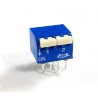 Interruttore dip switch ON/OFF doppia corrente 0.03A/30V DC 2 vie 4+4 terminali