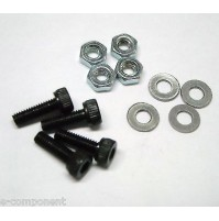Kit Viti testa cilindrica a brugola M2,5x8mm con Dado e Rondella  (4 pezzi)