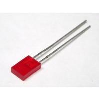 Led Rosso Rettangolare diffuso 5mm (5 pezzi)
