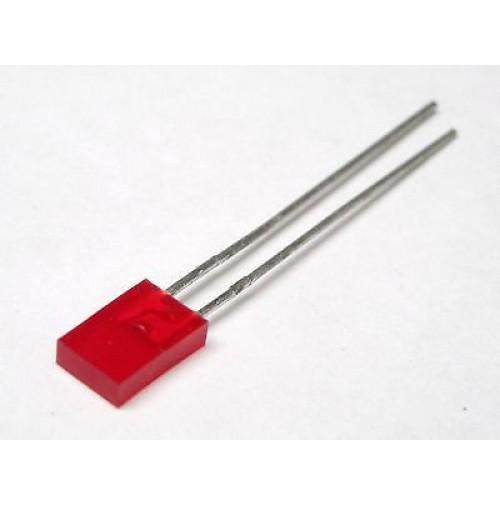 Led Rosso Rettangolare diffuso Hi Lux 5mm (4 pezzi)