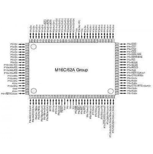 M30624FGAFPU5 - 16-BIT SINGLE-CHIP M16C series - Package: 100P6S-A