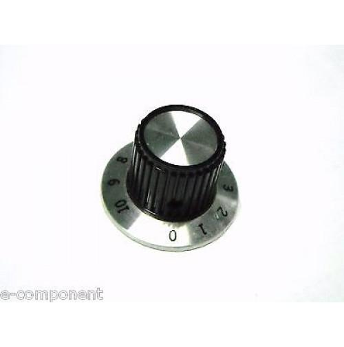 MANOPOLA PER POTENZIOMETRO ASSE 6,35mm con Vite MNR-1A