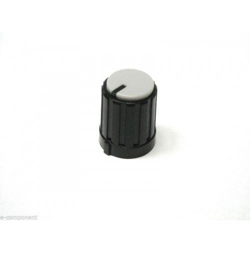 MANOPOLA PER POTENZIOMETRO ASSE 6mm a innesto zigrinato colore Grigio MNA-2D