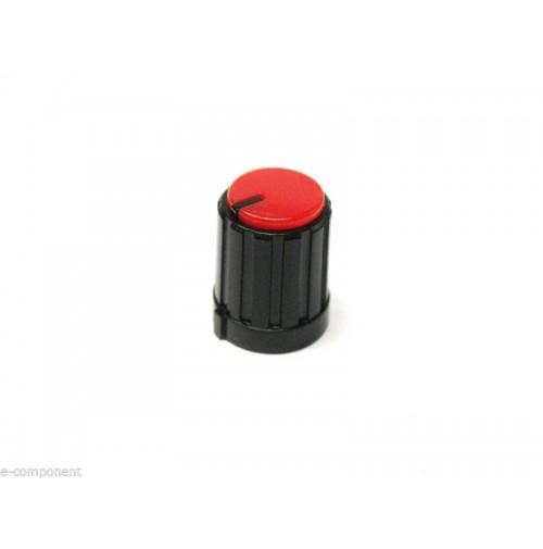 MANOPOLA PER POTENZIOMETRO ASSE 6mm a innesto zigrinato colore Rosso MNA-2A