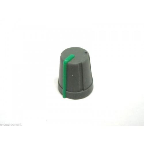MANOPOLA PER POTENZIOMETRO ASSE 6mm innesto a