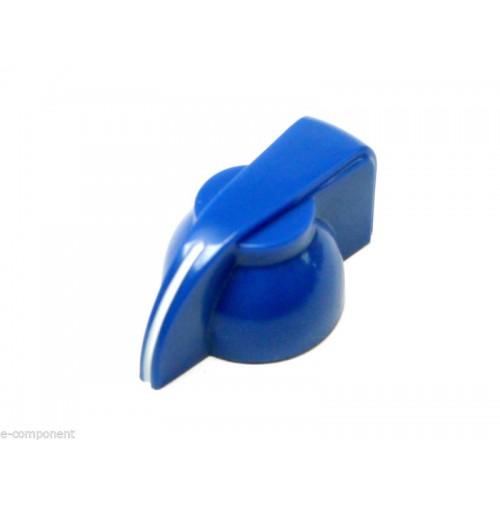 MANOPOLA PER POTENZIOMETRO ASSE 6mm innesto zigrinato colore Azzurro MNA-3B
