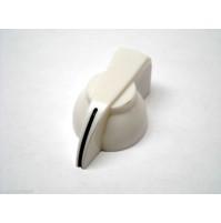 MANOPOLA PER POTENZIOMETRO ASSE 6mm innesto zigrinato colore Bianco MNA-3E
