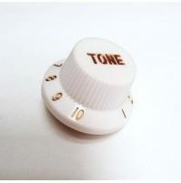 Manopola per potenziometro (TONE) CON SCALA 1-10 Tipo FENDER Zigrinata B Gold