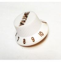 Manopola per potenziometro (VOLUME) CON SCALA 1---10 Tipo  FENDER Zigrinata B