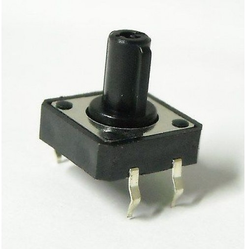 Pulsante da Circuito Stampato 12x12mm H=11,8mm Tipo Normalmente Aperto (1 Pezzo)